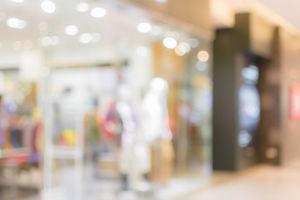 mall - blured image