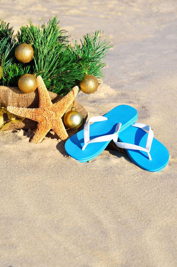 Christmas image on beach 2