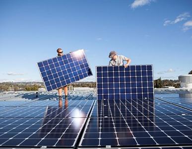 Bluewater solar array
