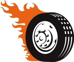 tyre burning art image