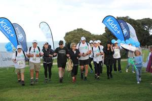 Team G21 finishes the Surf Coast Trek.